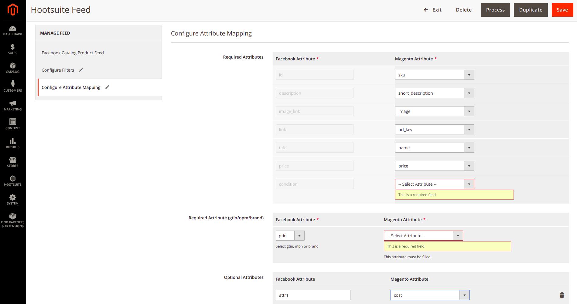 Magento Facebook Product Catalog Synchronization SCREENSHOT