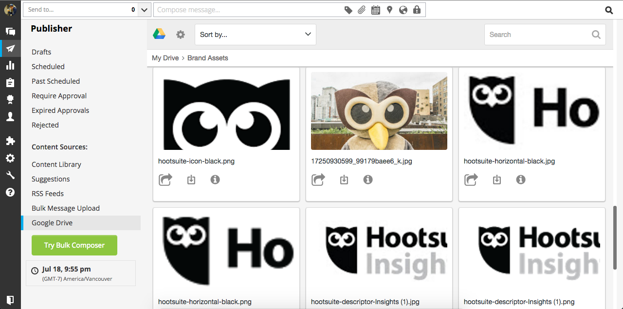 Google Drive for Hootsuite SCREENSHOT