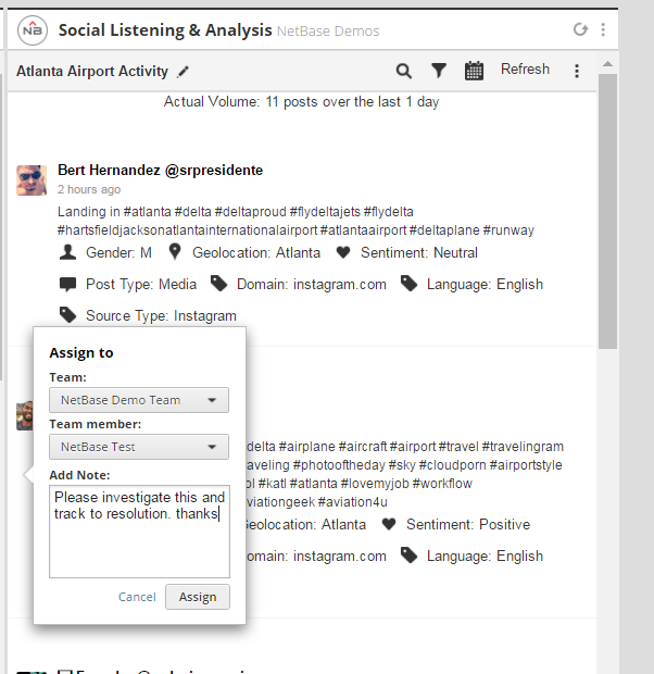 NetBase Social Listening & Analysis SCREENSHOT